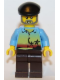 Minifig No: gen063  Name: Sunset and Palm Trees - Dark Brown Legs, Black Beret