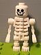 Minifig No: gen066  Name: Skeleton with Standard Skull, Angular Rib Cage, Mechanical Arms