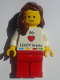 Minifig No: gen073  Name: Lego Kladno Girl We Heart LEGO bricks Minifigure