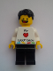 Minifig No: gen074  Name: Lego Kladno Boy We Heart LEGO bricks Minifigure