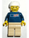 Minifig No: gg003  Name: Skateboarder, Dark Blue Shirt, Tan Legs