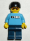 Minifig No: gg004  Name: Skateboarder, Medium Blue Shirt, Dark Blue Legs