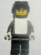 Minifig No: gg009  Name: Snowboarder, Dark Gray Shirt, Black Legs, Black Helmet, White Vest
