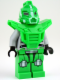 Minifig No: gs013  Name: Bright Green Robot Sidekick with Armor