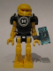 Minifig No: hf001  Name: Hero Factory Mini - Evo with Datapad
