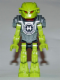 Minifig No: hf005  Name: Hero Factory Mini - Breez - Flat Silver Armor