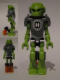 Minifig No: hf006  Name: Hero Factory Mini - Breez - Flat Silver Armor with Rocket Jets