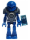 Minifig No: hf010  Name: Hero Factory Mini - Surge - Flat Silver Armor with Datapad