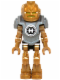 Minifig No: hf019  Name: Hero Factory Mini - Rocka - Flat Silver Armor