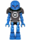 Minifig No: hf020  Name: Hero Factory Mini - Surge - Pearl Dark Gray Armor