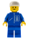 Minifig No: hgh003  Name: Highway Pattern - Blue Legs, White Cap