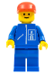 Minifig No: hgh004  Name: Highway Pattern - Blue Legs, Red Cap