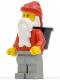Minifig No: hol006  Name: Santa, Light Gray Legs, D-Basket