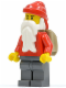 Minifig No: hol011  Name: Santa, Dark Bluish Gray Legs, Backpack Open