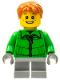 Minifig No: hol024  Name: Winter Jacket Zipper, Light Bluish Gray Short Legs (Boy Sleigh Rider)