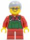 Minifig No: hol033  Name: Overalls Farmer Green, Short Red Legs, Glasses (Boy)