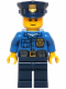 Minifig No: hol040  Name: Police - Gold Badge, Police Hat, Black Eyebrows, Smile