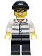Minifig No: hol041  Name: Police - Jail Prisoner 86753 Prison Stripes, Black Knit Cap, Mask