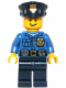 Minifig No: hol042  Name: Police - Gold Badge, Police Hat, Open Grin
