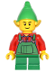 Minifig No: hol044  Name: Elf - Green Overalls