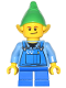 Minifig No: hol045a  Name: Elf - Blue Overalls, Black Dimple
