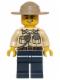 Minifig No: hol061  Name: Swamp Police - Officer, Shirt, Dark Tan Hat, Lopsided Grin