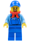Minifig No: hol078  Name: Winter Holiday Train Locomotive Driver (10254)