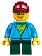 Minifig No: hol093  Name: Winter Holiday Train Station Child