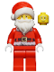 Minifig No: hol110  Name: Santa, Red Legs, Fur Lined Jacket with Button, Glasses (60155)