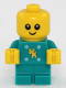 Minifig No: hol121  Name: Baby - Dark Turquoise Body with Moose and Snowflakes and Yellow Hands