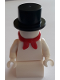Minifig No: hol130  Name: Snowman with 2 x 2 Curved Top Brick as Legs