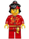 Minifig No: hol133  Name: Dragon Dance Performer, Top Knot and Headband, Lopsided Grin