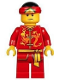 Minifig No: hol136  Name: Dragon Dance Performer, Tied Red Bandana, Angry Eyebrows and Scowl