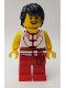 Minifig No: hol148  Name: Dragon Boat Rower Team White / Red 02