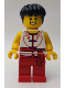 Minifig No: hol149  Name: Dragon Boat Rower Team White / Red 03