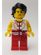 Minifig No: hol150  Name: Dragon Boat Rower Team White / Red 04