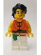 Minifig No: hol154  Name: Dragon Boat Race Team Green/Orange Member 2