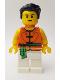 Minifig No: hol155  Name: Dragon Boat Race Team Green/Orange Member 3