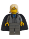 Minifig No: hp018  Name: Lucius Malfoy, Dark Gray Suit Torso, Dark Gray Legs