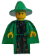 Minifig No: hp022  Name: Professor McGonagall, Green Robe and Cape