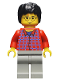 Minifig No: hp025  Name: Harry Potter, Red Shirt Torso, Light Gray Legs