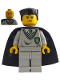 Minifig No: hp027  Name: Ron/Crabbe, Slytherin Torso, Light Gray Legs, Black Cape with Stars