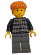Minifig No: hp032  Name: Ron Weasley, Black and White Plaid Shirt