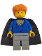 Minifig No: hp034  Name: Ron Weasley, Blue Sweater, Black Cape with Stars