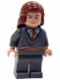 Minifig No: hp083  Name: Hermione Granger, Gryffindor Stripe Torso, Reddish Brown Female Hair Mid-Length