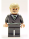 Minifig No: hp085  Name: Draco Malfoy, Dark Bluish Gray Sweater, Smirk