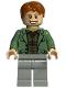 Minifig No: hp089  Name: Arthur Weasley, Sand Green Open Jacket, Light Bluish Gray Legs
