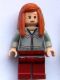 Minifig No: hp090  Name: Ginny Weasley, Light Bluish Gray Knitwear, Dark Red Legs with Pocket Pattern
