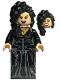 Minifig No: hp092  Name: Bellatrix Lestrange, Black Dress, Long Black Hair