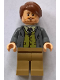 Minifig No: hp157  Name: Professor Remus Lupin, Dark Bluish Gray Jacket, Olive Green Vest
